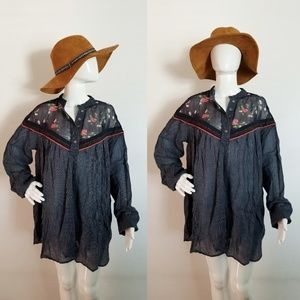 $98 NWT M Free People Tunic Mini Dress